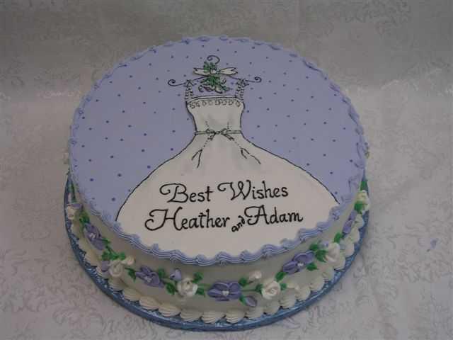 wedding gown bridal shower cake