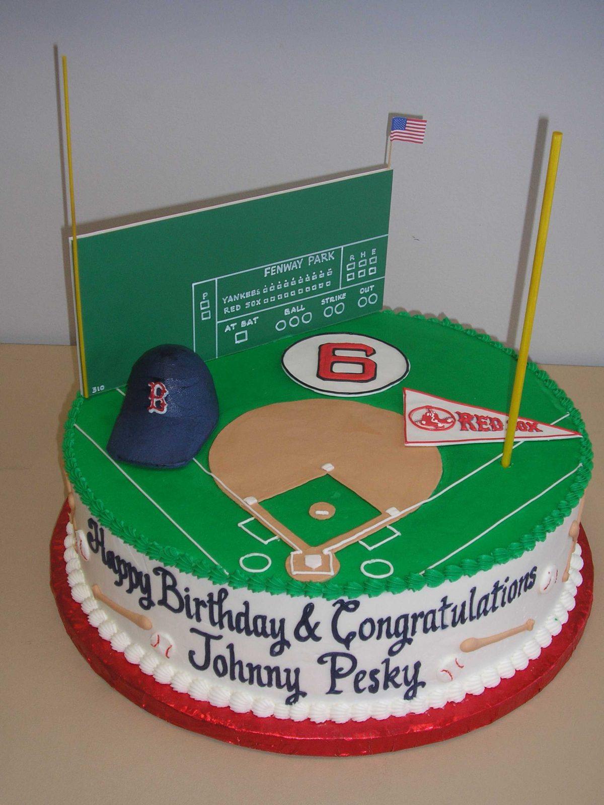 baseball cake, fenway park cake