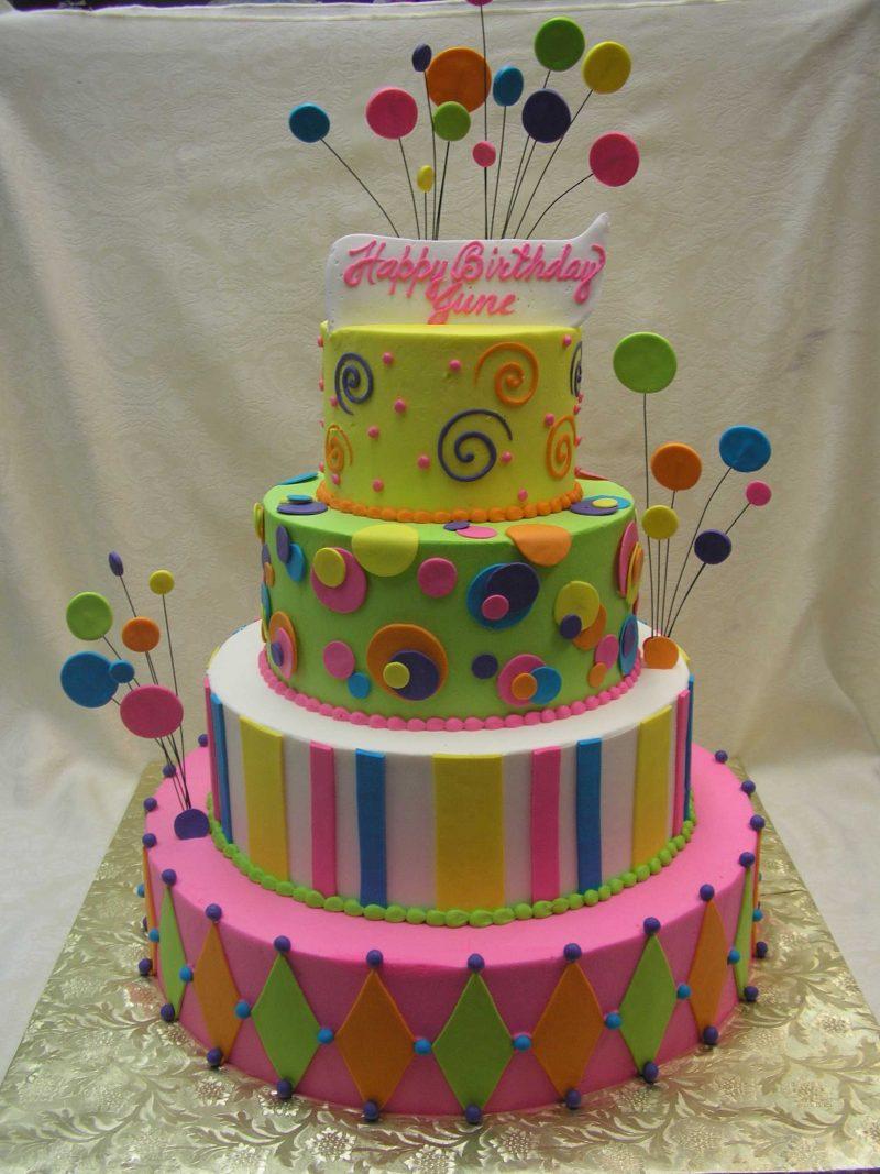 multi tier festive cake