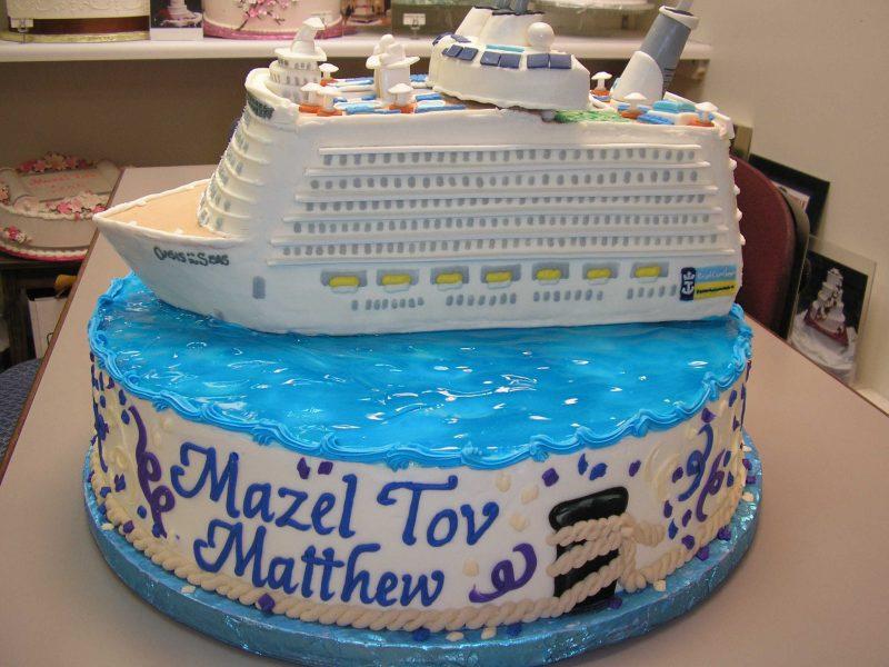 3d cruise ship cake