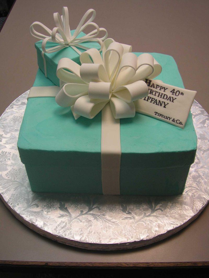 tiffany cake, blue box cake