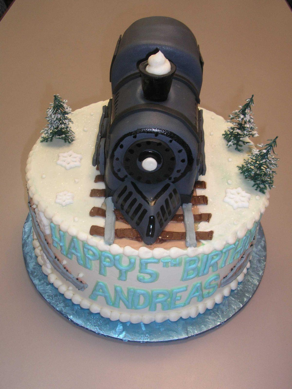 christmas cake, polar express cake