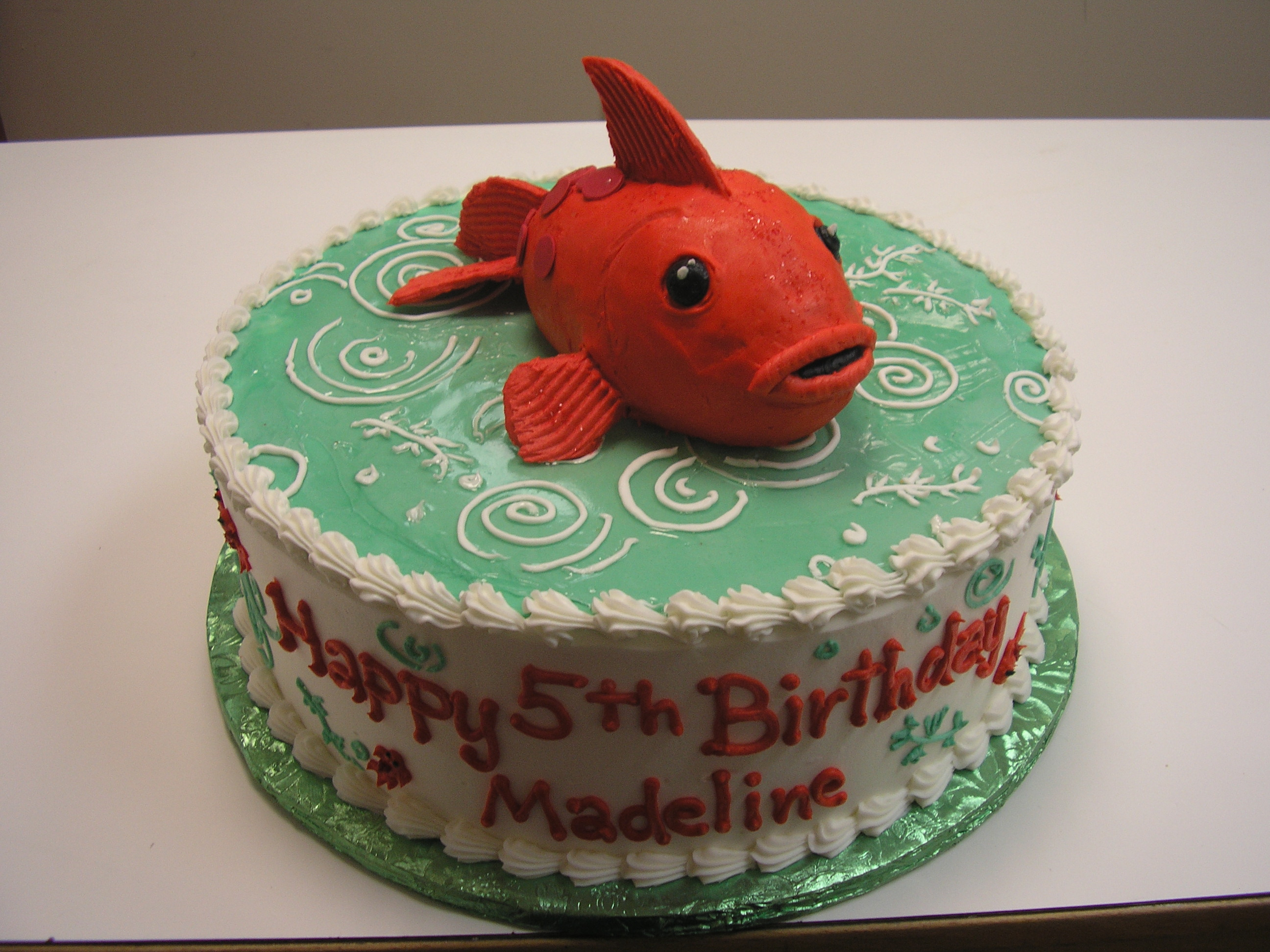3D red fish cake, 3D fish cake
